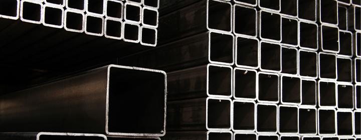 Tubos industriais quadrados com costura